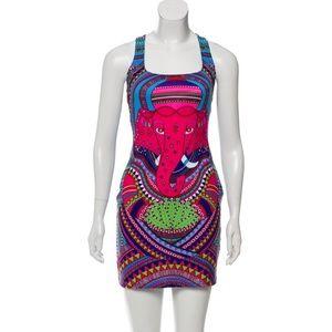 mara hoffman mini dress - elephant print